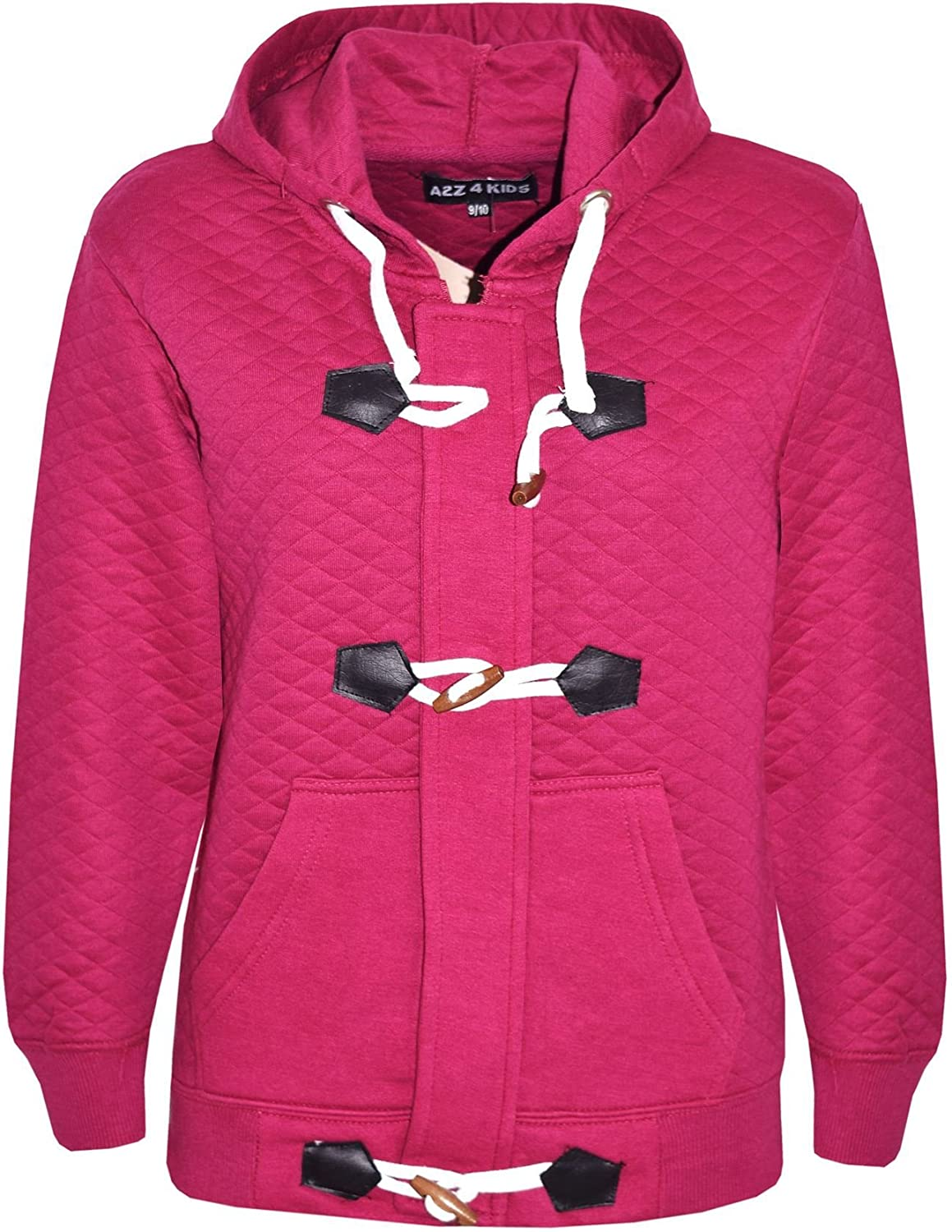 A2Z 4 Kids/® Kids Hooded Jacket Girls Cerise Fur Parka School Jackets Outwear Coat New Age 7 8 9 10 11 12 13 Years