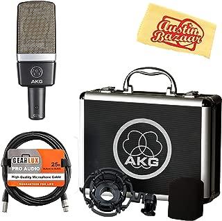 AKG C214 Large-Diaphragm Condenser Microphone Bundle with XLR Cable and Austin Bazaar Polishing Cloth