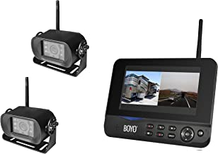 """BOYO VTC700RQ-2 - Digital Wireless 2 Camera DVR System with 7"""" Monitor for Car, Truck, SUV and Van (4-Channel System)"""