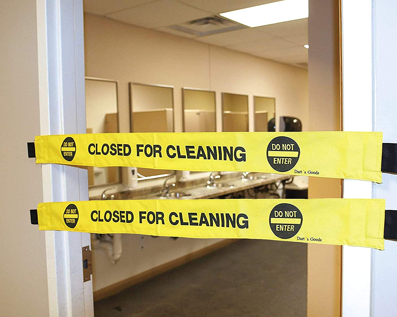 Dart's Goods Closed for Cleaning Sign! with Magnetic Ends! Folds Up for Easy Storage!… (2)