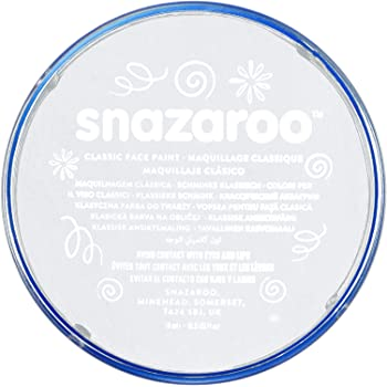 Snazaroo Classic Face and Body Paint, 18ml, White