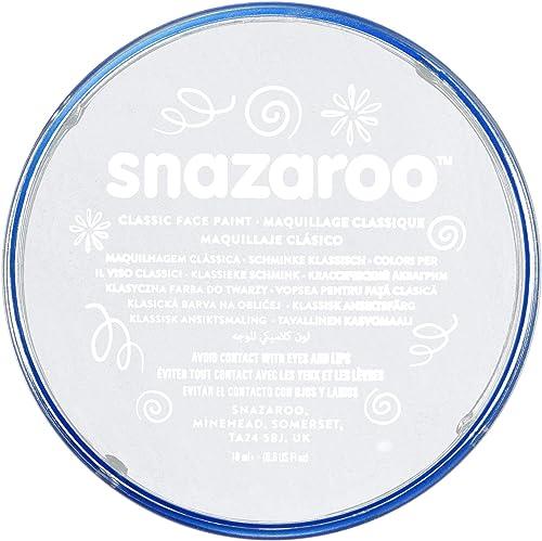 Snazaroo - Pintura facial y corporal, 18 ml, color blanco product image