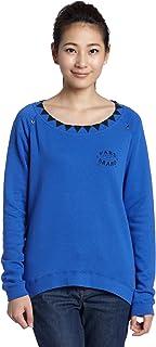 Womens The Socials Wovented Diamond Crews Sweatshirt