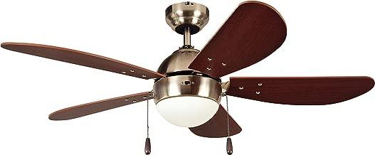 Litex E-PB42SN5C PRESCOTT 42-Inch Satin Nickel Ceiling Fan
