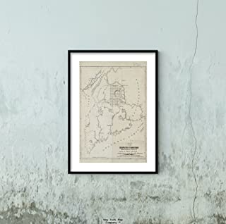 1839 Map Maine Canada New Brunswick of The disputed Territory with The Boundaries Claimed by Mai Historic Antique Vintage ...