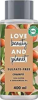 Love Beauty And Planet Manteca de Karité y Sándalo Vegano Champú para Cabello Seco - Pack de 2 x 400 ml - Total: 800 ml