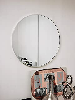 DEENZ Large 60cm Large Round Silver Wall Mounted Mirror Aluminium Frame Bathroom Living Room A Must have Mirror very good ...
