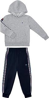 لباس بچه گانه قهرمان پسرانه دو تکه پارچه ای دو تکه ورزشی بالا