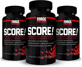 Score! Nitric Oxide Booster Supplement for Men with L-Citrulline to Improve Blood Flow, Enhance Workout Performance, and I...