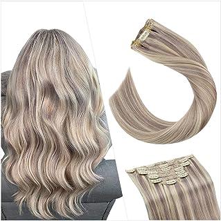 Amazon.es: extensiones de clip de pelo natural castaño con ...