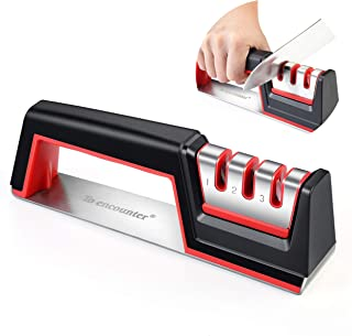 To encounter Kitchen Knife Sharpener Scissors Sharpener Professional 3-Stage Knife Sharpening Tool for Straight and Ceramic knives, Diamond, Tungsten Steel and Ceramic Rod