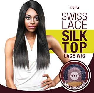 The Stylist Synthetic Lace Front Wig Swiss Lace Silk Top Straight Affair (2)