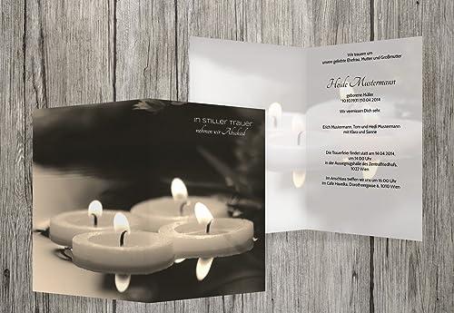 cómodamente Tarjeta Tarjeta Tarjeta de luto velas flotantes, beige, 100 Karten  moda clasica