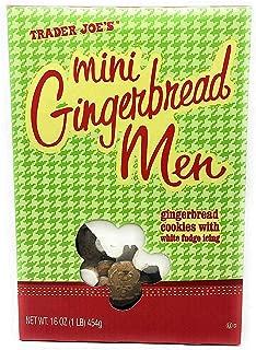 Trader Joe's Mini Gingerbread Men Cookies with White Fudge Icing   16 ounces, 454 grams