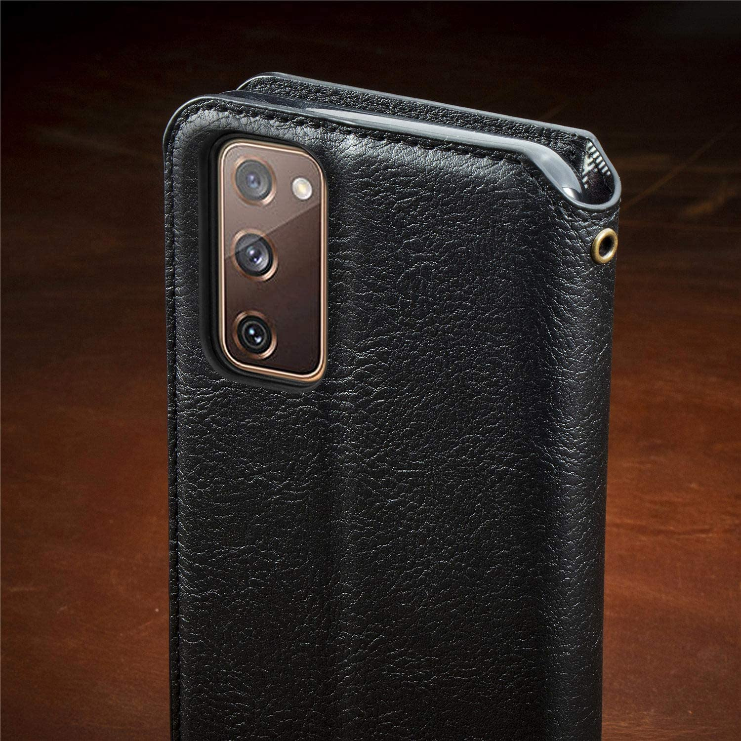 S20 FE 5G TRSDA120279 Brown Trugox Wallet Case for Samsung Galaxy S20 FE with Credit Card Holder Stand Function Flip Case Cover Men Women Protective Leather Phone Case for Galaxy S20FE