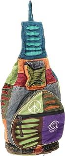 GURU SHOP Mochila Hippie, Mochila de Retazos de Nepal, Unisex - Adultos, Multicolor, Algodón, Tama�o:One Size, 35x23x23 cm, Mochilas y Bolsas de Deporte