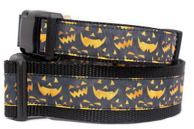 Halloween Jack Houston Mall O Lantern Dog Collar trend rank inch 1.5 or 1 wide