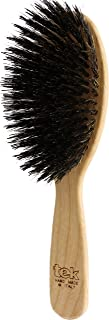 Tek big oval hairbrush in ash wood with boar bristles - for Hair Extensions - Handmade in Italy