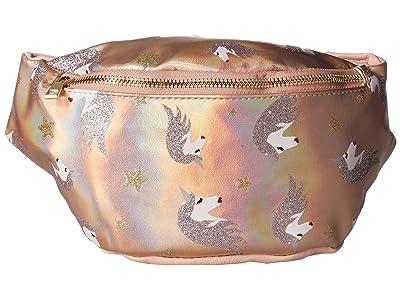 OMG! Accessories Glitz Unicorn Hologram Fanny Pack (Blush) Cross Body Handbags