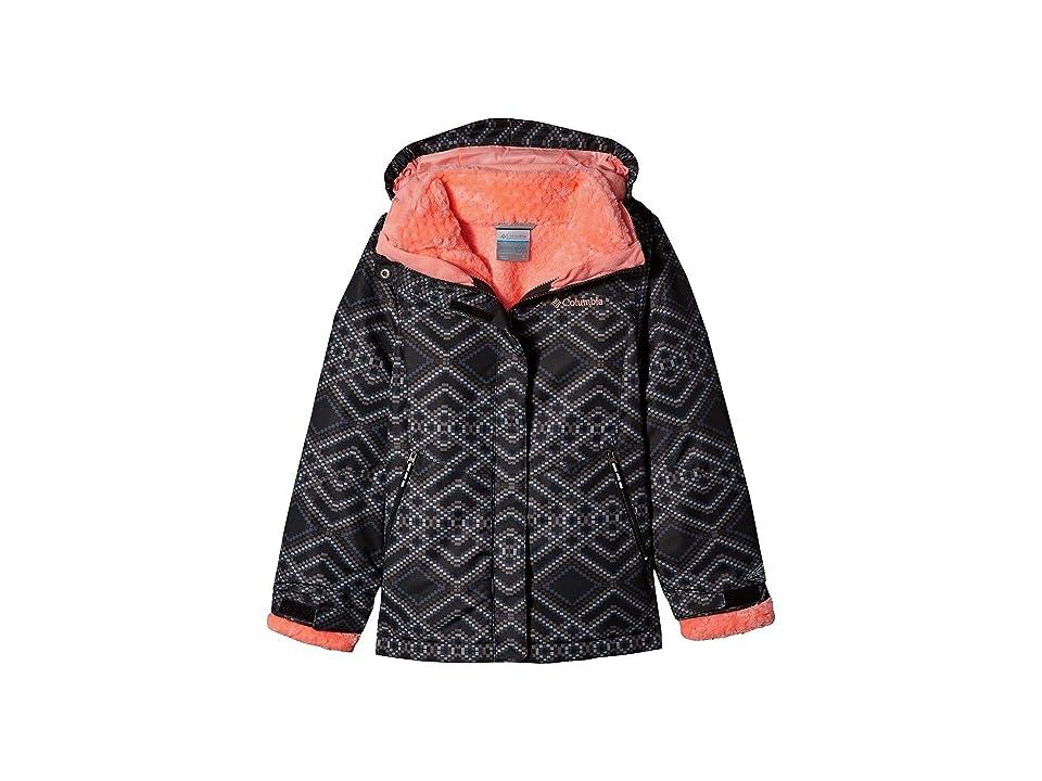 Columbia Kids Bugabootm II Fleece Interchange Jacket (Little Kids/Big Kids) (Black Microgeo Print) Girl