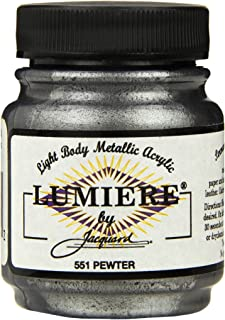 Jacquard Lumiere Metallic Acrylic Paint 2.25 Ounces-Pewter