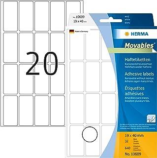 HERMA 10609 - Etiquetas multiuso (640 unidades, 19 x 40 mm