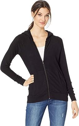 Cozy Knit Long Sleeve Raglan Zip-Up Hoodie