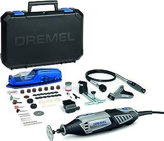 Dremel 4000 - Multiherramienta, 175 W, kit con eje flexible, 65 accesorios y 4 complementos, velocidad variable 5.000 - 3...