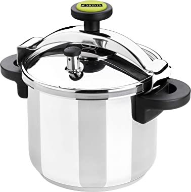 Braisogona Monix Classica 10 Litre Pressure Cooker (All Cookers Including Induction), Stainless Steel, Silver, 24 cm