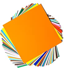 """Permanent Adhesive Backed Vinyl Sheets by EZ Craft USA - 12"""" x 12"""" - 40 Sheets Assorted Colors Works with Cricut and Other Cutters"""