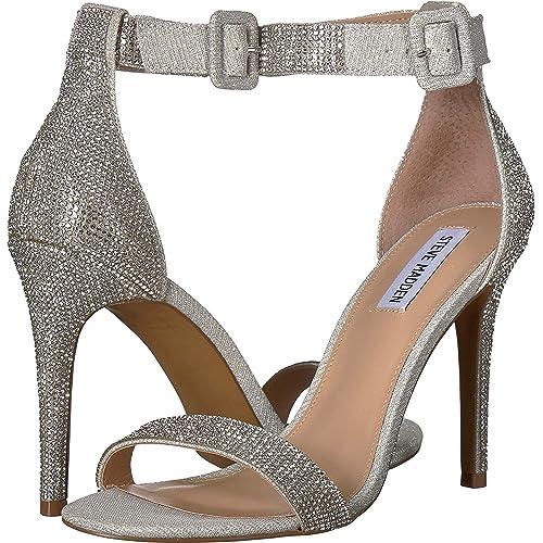856e80ebdf1b2 Silver Rhinestone Heel: Amazon.com