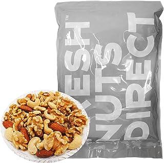 10%OFF!! 大粒3種 ミックスナッツ 1kg (新物生くるみ、素焼きカシュー、素焼きアーモンド)無添加 無塩 食物油不使用 チャック袋入り アシストフード