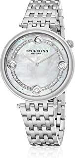 Stuhrling Women's Silver Dial Stainless Steel Band Watch - 716.01, Analog Display