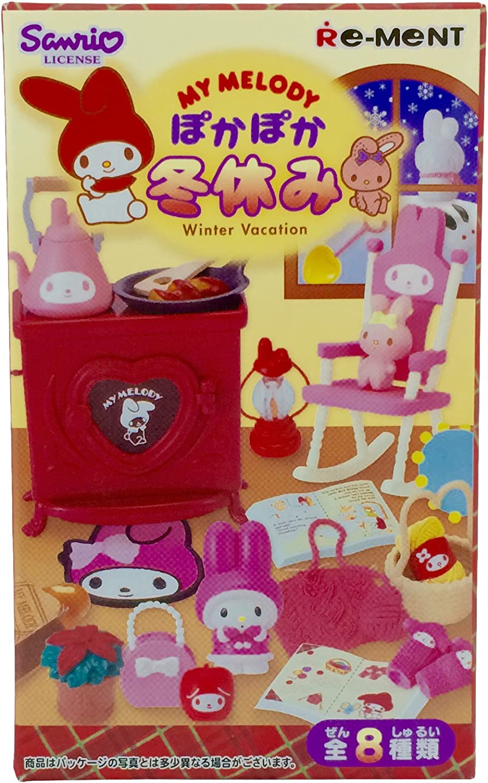 My Melody Pokapoka Fuyuyasumi 8 pcs Candy Toys & gum (My Melody) by ReMent