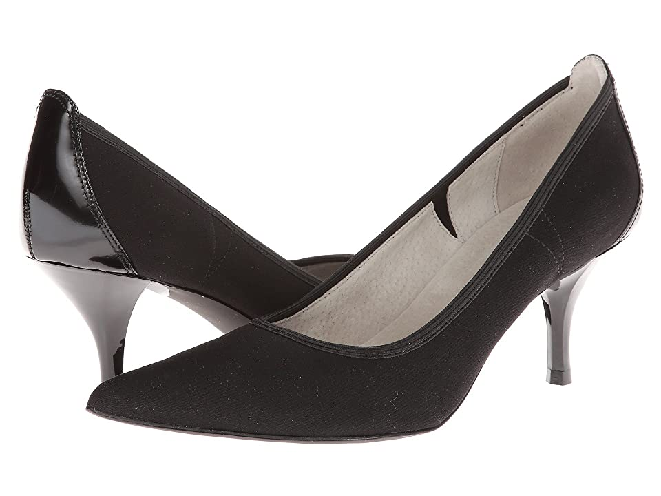 Tahari Dottie (Black Stretch) High Heels