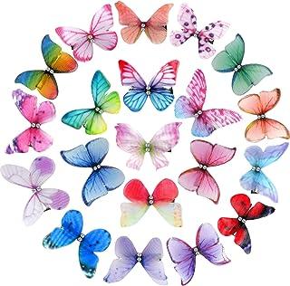 20 clips para el pelo de mariposa, coloridos pasadores de mariposa, 3D, para el día de San Valentín, accesorios para el pe...