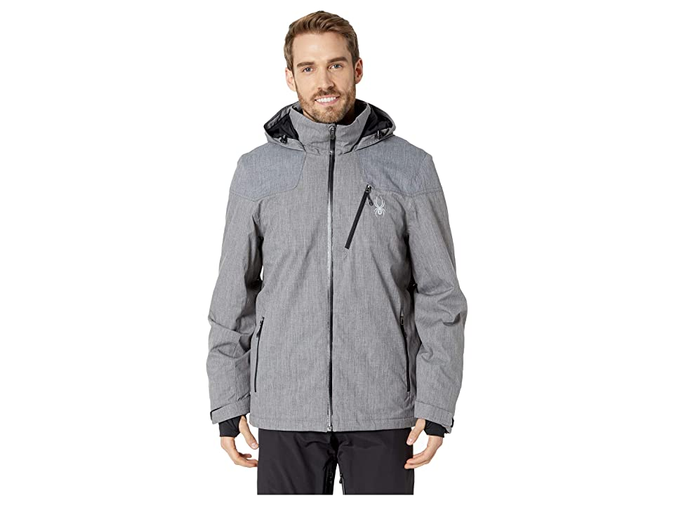 Spyder Traveler Jacket (Polar Herringbone/Black/Black) Men