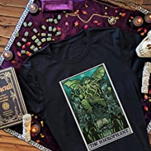 The Hierophant Tarot Card Shirt Cthulhu Shirt Womens Witchy Halloween Tshirt Mens Witch Clothing Men Cthulu Shirt Horror Shirts for Women, Funny Collection Graphic Unisex T-Shirt