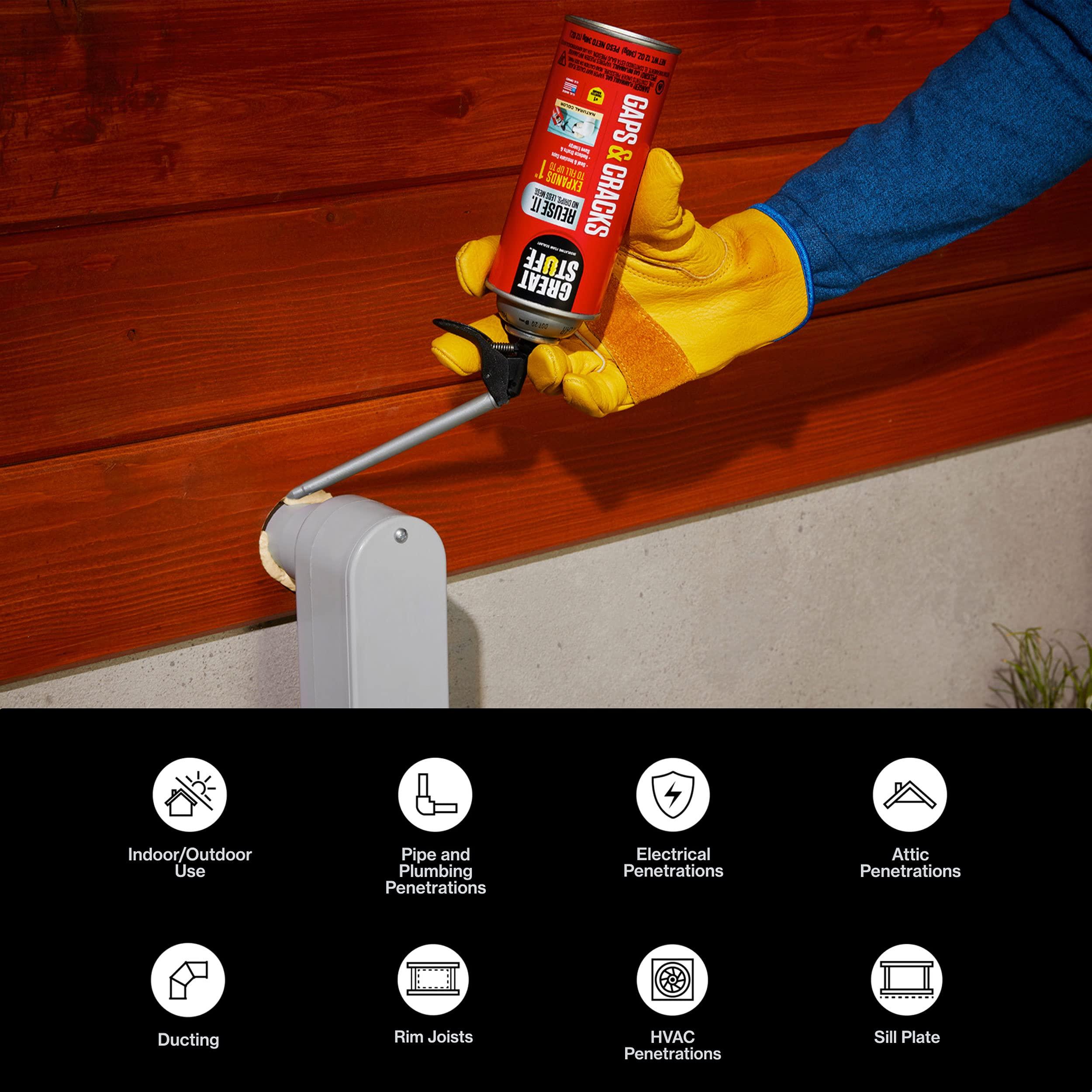 Great Stuff 99108824 Smart Dispenser Gaps & Cracks, Cream