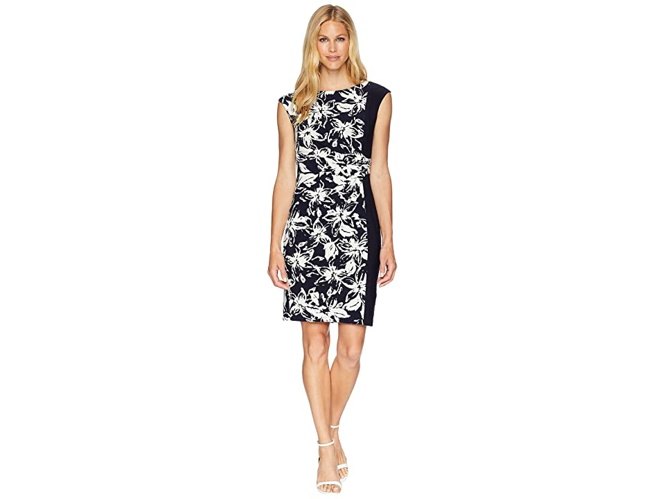 CHAPS Tedros Dress (Moonlight Floral) Women