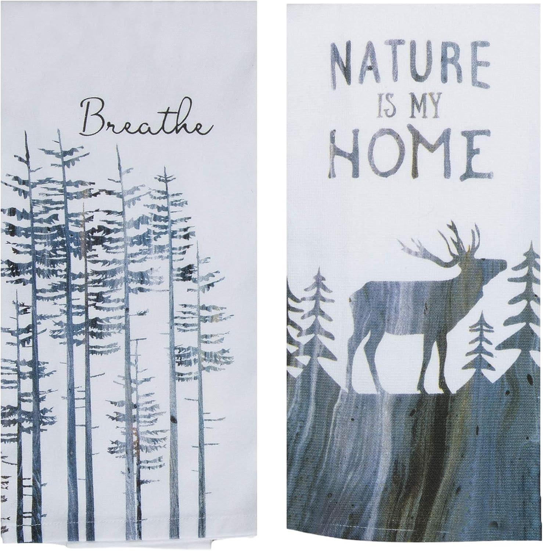 Nature Themed Kitchen Towels Bundled 2 Dish of trust High order Tr Set