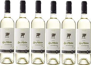 Las Mulas Sauvignon Blanc, Vino Blanco - 6 botellas de 75 cl