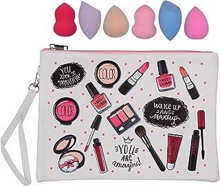 Store2508® Combo of 6 Pcs Makeup Beauty Blender + Zippered Pouch.