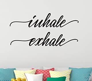 Inhale Exhale Wall Decal - Relaxing Words Vinyl Design for Home Decoration CG1292 (22
