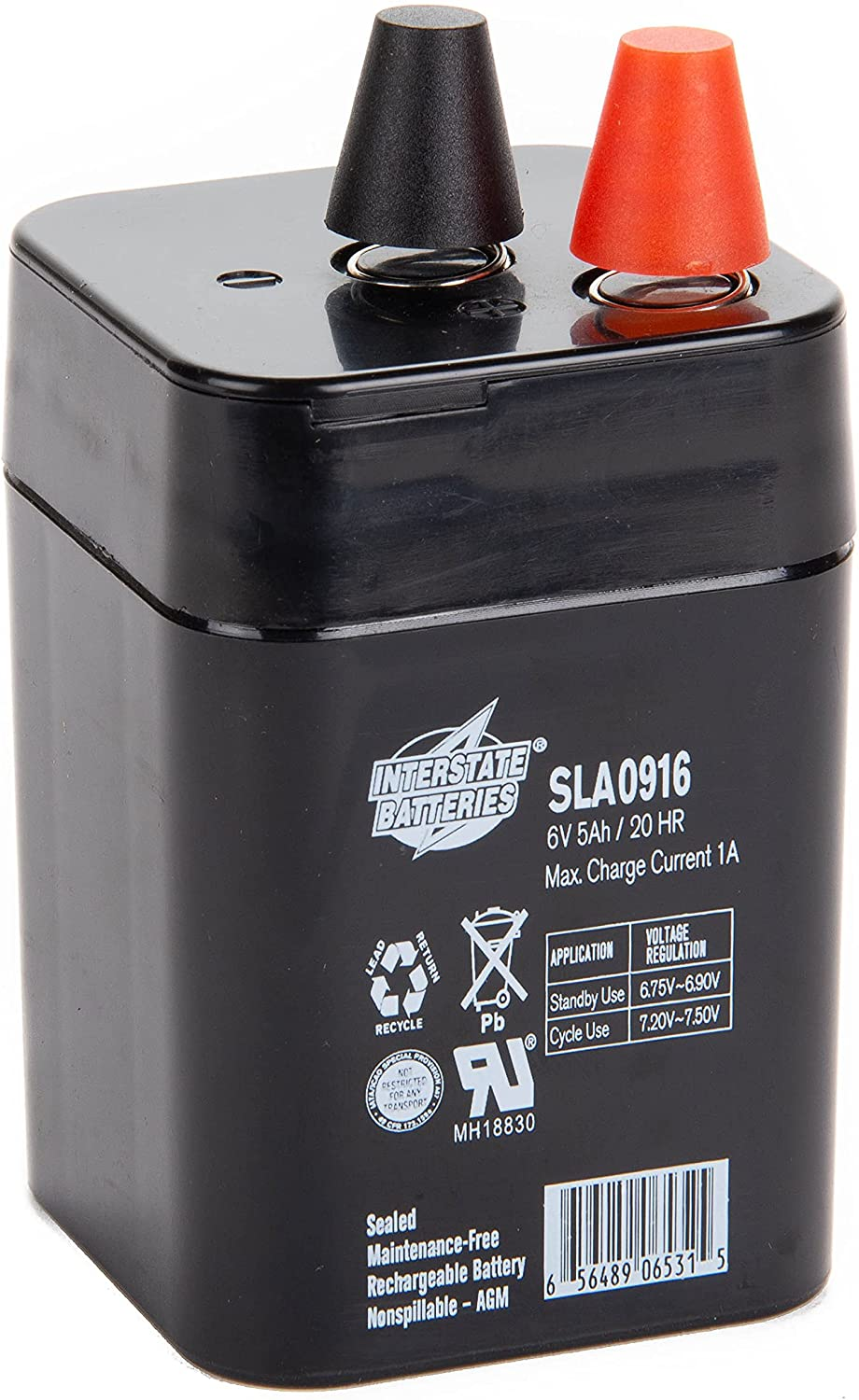 Max 58% OFF Interstate Batteries Outlet ☆ Free Shipping Power Patrol 6V 5Ah Battery Seale SLA0916