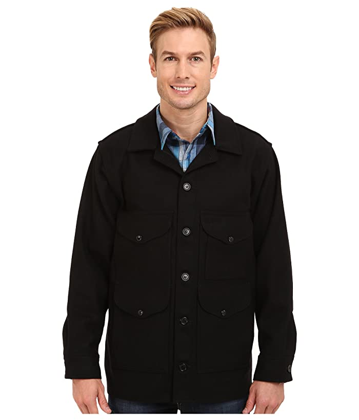 1910s Men's Working Class Clothing Filson Mackinaw Cruiser Black Mens Coat $340.00 AT vintagedancer.com