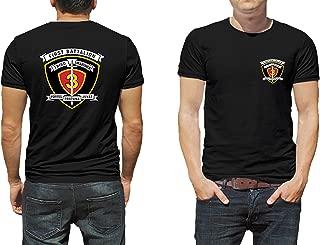 1st Battalion 3rd Marines USMC Marine Corp WWII Black or White Short Sleeve Shirt