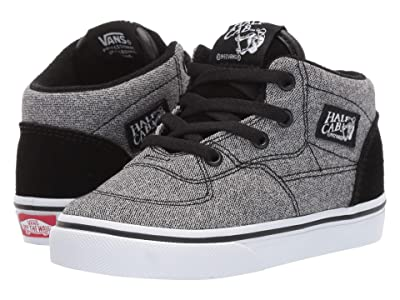 Vans Kids Half Cab (Infant/Toddler) ((Suede) Suiting/Black) Boys Shoes