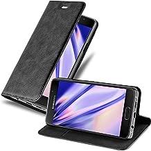 Cadorabo Hülle für Samsung Galaxy A3 2016 (6) - Hülle in Nacht SCHWARZ – Handyhülle mit Magnetverschluss, Standfunktion und Kartenfach - Case Cover Schutzhülle Etui Tasche Book Klapp Style