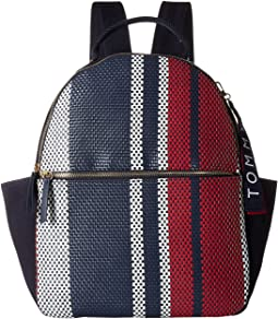 Classic Tommy Woven PVC Dome Backpack
